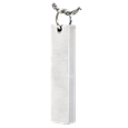 bar pendant pet cremation jewelry in silver holds ashes