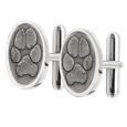 Sterling Silver Paw Print Cuff Links Pet Memorial Jewelry
