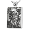 Pet Photo Laser Engraved onto sterling silver Rectangle Jewelry