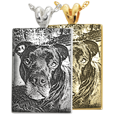Pet Photo Laser Engraved Perfect Rectangle Jewelry