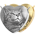 Photo Laser Engraved Peaceful Heart Pet Jewelry
