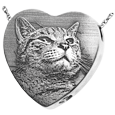 custom pet photo engraved onto sterling silver urn heart charm