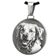 custom pet photo on stainless steel simple round jewelry