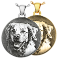 custom pet photo simple round jewelry