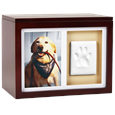 Pet Wooden Paw Print Memory Box