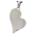 stainless steel heart ash-holding jewelry for pets
