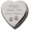 Heart Pet Cremation Box with clip art option