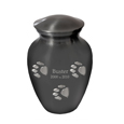"Paw Print Cremation Urns- 6"" shown engraved"