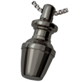 Pet Cremation Jewelry: Divine Mini Black Nickel-plated Brass Urn