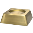 Side view of Square Pet Urn Base Matte Brass
