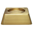 Square Pet Urn Base Matte Brass shown with no engraving