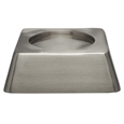 Square Pet Urn Base Matte Pewter shown with no engraving