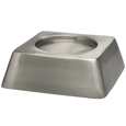 Side view of Square Pet Urn Base Matte Pewter