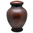 beautiful plain large dog wood urn