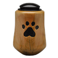 Small Dog Artisan Urn made of Maple Wood