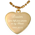 Engraved Heart Gold-plated Pendant with chain