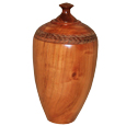Cherry Wood Tall Pet Urn Large