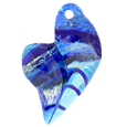 Blue is My Heart Pet Glass Cremation Jewelry