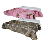 Economy Pet Casket with camoflauge lined interior