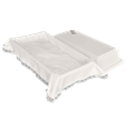 White Crepe Interior Economy Pet Casket