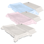 White, Pink or Blue Crepe Interior Economy Pet Casket