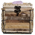 Rustic Wood Log Pet Urn with Quartz Stone