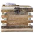 Rustic Wood Log Cabin Urn with Quartz Stone for large dogs