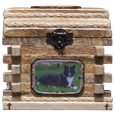 wood cabin urn for dog or cat