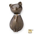 princess cat urn in bronze