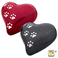 LovePaws Pet Urn in red and midnight
