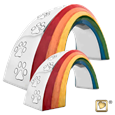 rainbow bridge pet urn in small or large