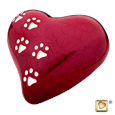 LovePaws™ Pet Urn in red