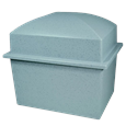 Pet Casket- Marquis Burial Vault in grey granite