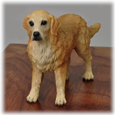 Golden Retriever Figurine detail