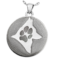 Paw Print & Silhouette Pet Memorial Jewelry
