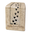 Paw Prints On Our Hearts with Custom Text, Small Size