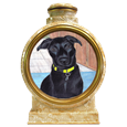 Colored Pencil Dog Portrait urn