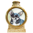 Colored Pencil Chihuahua Dog Portrait urn