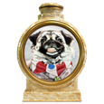 Colored Pencil Pekingese Dog Portrait  pottery urn