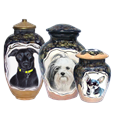 et Memorial Portrait Ceramic Urn with Colored Pencil in 3 styles