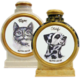 Pet Portrait Mixed Media Ceramic Urn samples