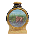 Full body dog portrait custom painted on ceramic urn
