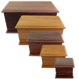 Handcrafted Solid Hardwood Urns in Alder or Walnut