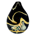 Black & Gold Pet Cremation Art Glass