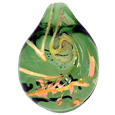 Emerald Pet Cremation Art Glass Jewelry