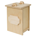 Birch Wood Urn Farewell Pet Kit shown plain