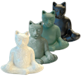 Buddha cat urn available in various colors