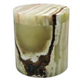 Medium Green Onyx marble pet urn