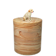 Yellow Lab dog figurine marble urn