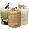 Marble Dog Figurine Urns features likeness of your dog